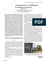 Design and optimization of a GFRP panel for building construction