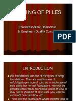 Testing on Pile Foundation