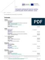 Oferta Ordinario Clasificada Por Provincia Concello 2011 12