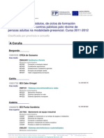 Oferta Modular Clasificada Por Provincia Concello 2011 12