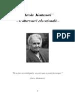 Maria Montessori - O Alternativa Educational A