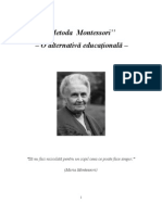 Maria Montessori - O Alternativa Educational A