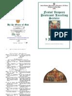 2012 - 3 June - Pentecost Vespers Kneeling Service