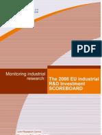 R&D Investment Scoreboard 2008