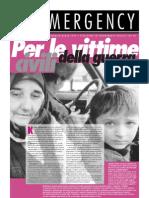Per le vittime civili della guerra - EMERGENCY n°1, febbraio 1995