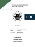Pengertian Filsafat Pancasila Dan Identitas Nasional( Yonathan)