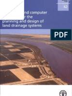 Guide line and computer programs for the planning and design of land driange  systems