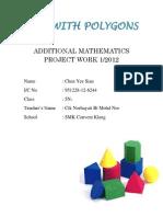 Additional Mathematics Project Work 2012
