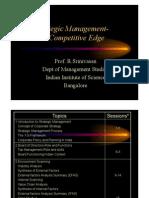 Strategic Management Lecture Notes