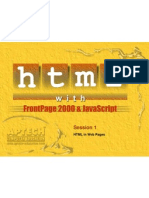 HTML & Frontpage - Session 1