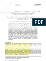Investigation on Compromieses and Compatibilities Amongst Manufacturing Capabilities