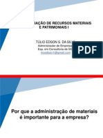 1. Amplitude da Administração de Materiais