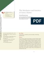 The Mechanics and Statistics Of Active Matter - Ramaswamy