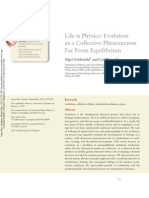 Life is Physics- Evolution as a Collective Phenomenon Far From Equilibrium