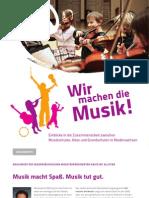 Wir machen die Musik! - die Broschüre zum Programm