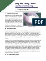 Lowering Soil pH - General Discussion