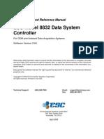 ESC 8832 Version 2.04 Manual