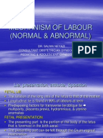 Mechanism of Labour (Normal and Abnormal)