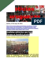 Noticias Uruguayas Martes 15 de Mayo de 2012