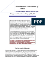 Personality Disorders and False Claims of Abuse