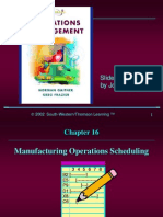 Ch16. Manufacturing Operations Scheduling
