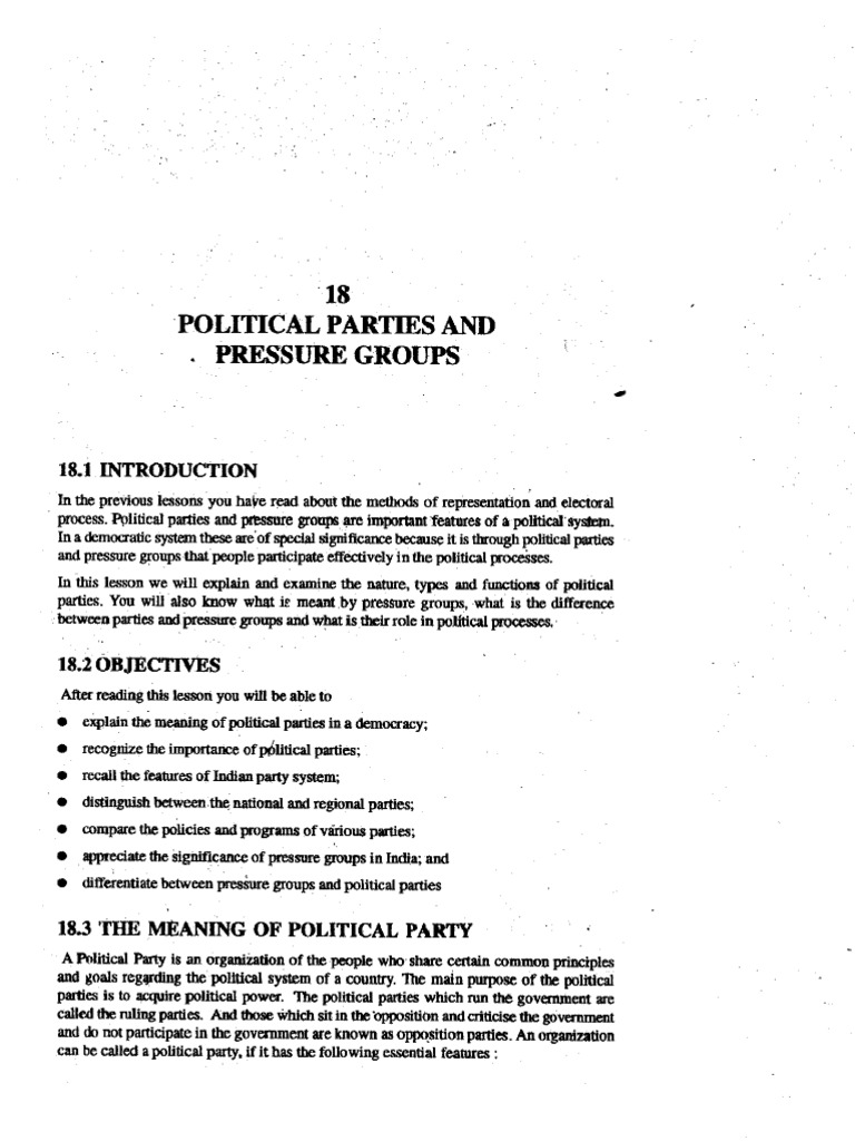 indian party system features