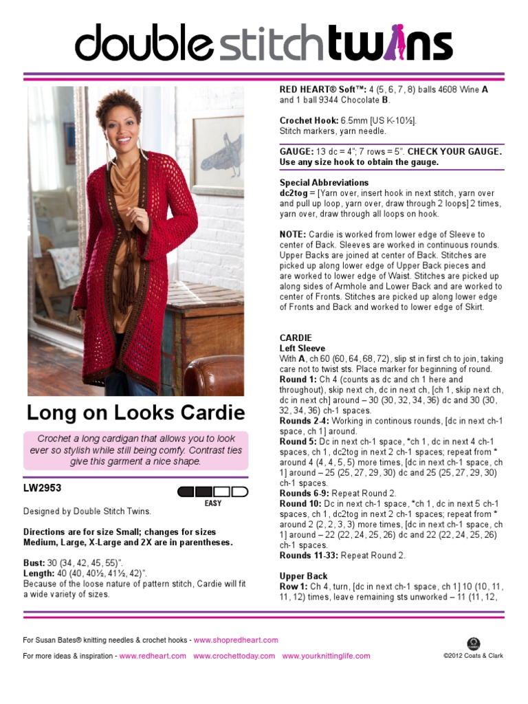 Long on Looks Cardie | Crochet | Gauge (Knitting)