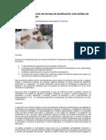 Pruebas de disolución de formas de dosificación oral sólidas de liberación inmediata