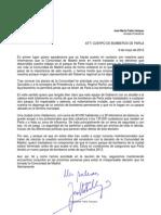 Carta Alcalde Parla Bomberos