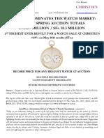Christie'S Dominates The Watch Market