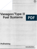 Vanagon Pro Training 86-91 Fuel Systems