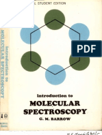 Barrow Introduction to Molecular Spectroscopy