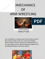 Bio Mechanics of Arm Wrestling