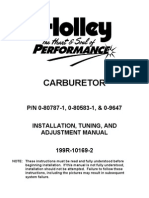 Holley Carb Adjustments