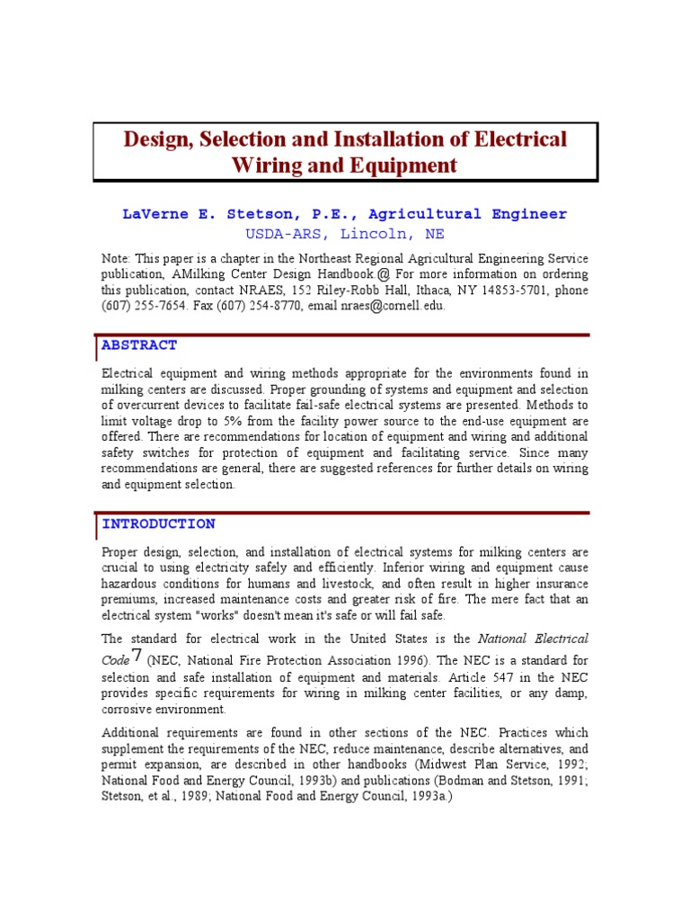 Design | Fuse (Electrical) | Electrical Wiring