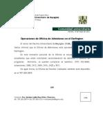 Rector Del RUM Informa-15 de Mayo de 2012-Admisiones