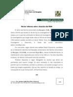 Rector Del RUM Informa-15 de Mayo de 2012-InvestigadoresRUM