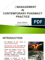 8 Risk Management in Contemporary Pharmacy Practice
