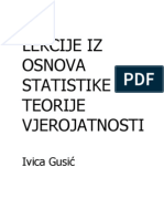 ~Statistika i teorija vjerojatnosti - Ivica Gusić