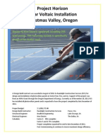 Project Horizon Solar Voltaic Installation Christmas Valley, Oregon