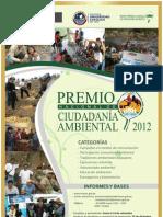 Afiche Premio Nacional de Ciudadanía Ambiental 2012