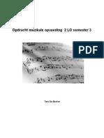Opdracht Muzikale Opvoeding 2 LO Semester 3 (Deel 1)