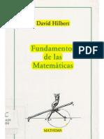 David Hilbert - Fundamentos de las Matemáticas - pag 133