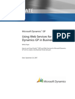 Web Services in Business Portal