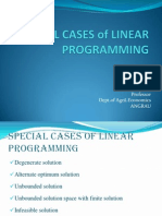 Special Cases Linear Programming
