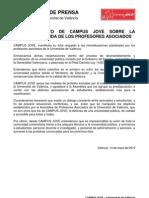 Posicionamiento CAMPUS JOVE Huelga Asociados