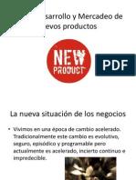 Diseño Desarrollo y Mercadeo de nuevos productos clase 1