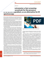 DART Mass Spectrometry a Fast Screening of Solid Pharmaceuticals for the Presence of an Active Ingredient, As an Alternative for IR Spectroscopy