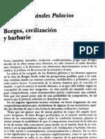 Borges, civilización y barbarie. Esther Hernandes Palacios