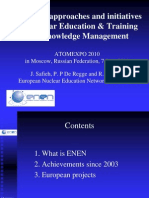 European approaches and initiativesfor Nuclear Education & Trainingand Knowledge Management